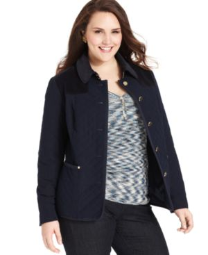 Jones New York Signature Plus Size Jacket, Quilted Barn