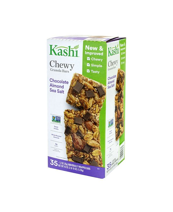 Kashi Chocolate Almond Sea Salt with Chia Granola Bars, 35 Count
