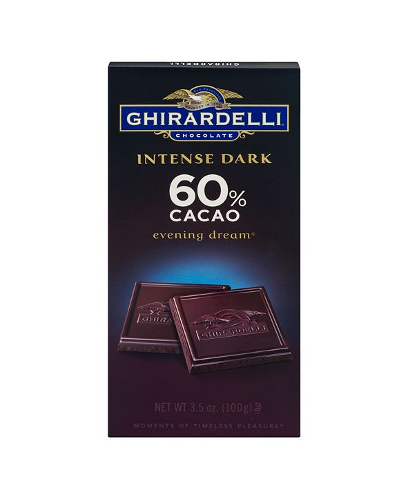 Ghirardelli Intense Dark Chocolate Cacao Evening Dream, 3.5 oz, 12 Count
