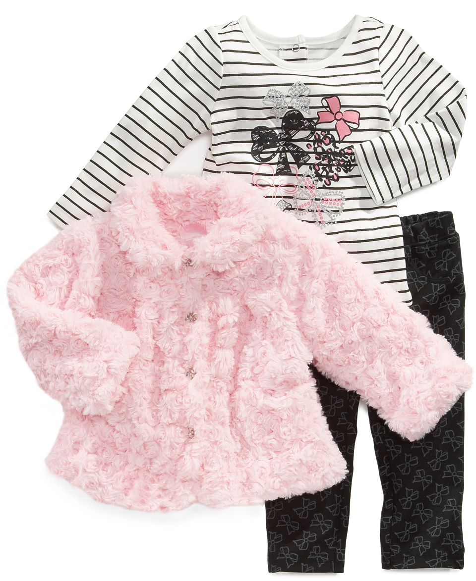 Blueberi Boulevard Baby Set, Baby Girls 2 Piece Dress and Coat   Kids