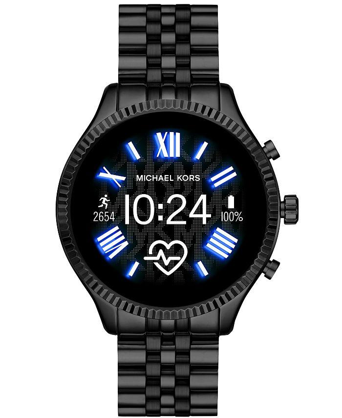 Michael Kors - Unisex Lexington 2 Black Stainless Steel Bracelet Touchscreen Smart Watch 44mm
