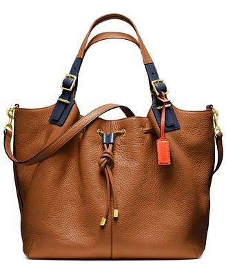 Coach Soft Legacy Drawstring Shoulder Bag 23