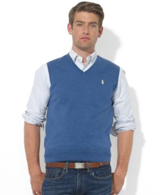 Macys Mens Polo Sweater Vest Cardigan Crochet Tutorial
