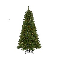 Deals on National Tree Company 6.5 ft. Mixed Pine Tree with Clear Lights