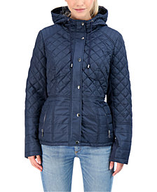 Sebby Juniors' Hooded Quilted Water-Resistant Coat
