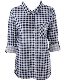 Concepts Sport Women's New York Yankees Wanderer Plaid Shirt