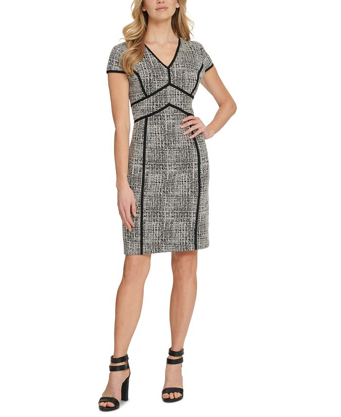 DKNY - Contrast-Trim Sheath Dress