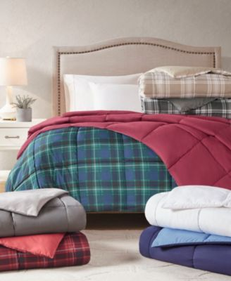 Reversible Down Alternative King Comforter, Created for Macy's