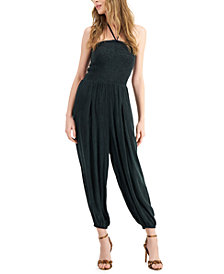 GUESS Kira Cropped Halter Jumpsuit