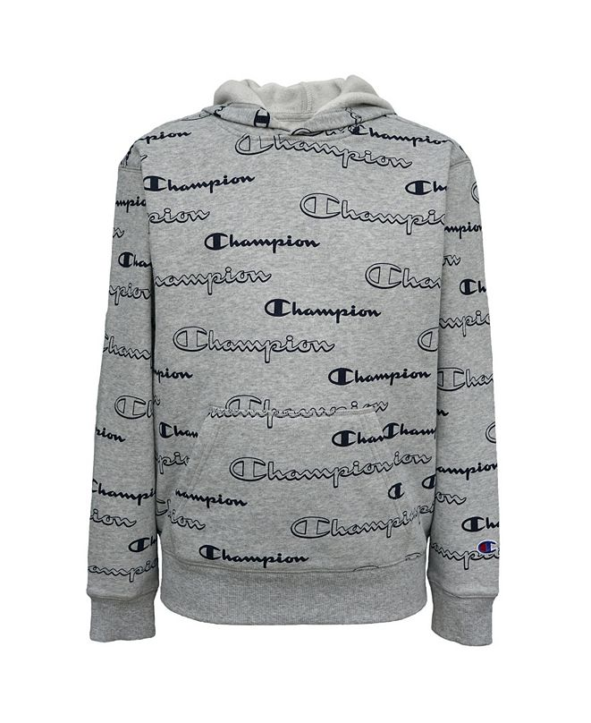Champion Aop Shadow Script Big Boys Hoodie