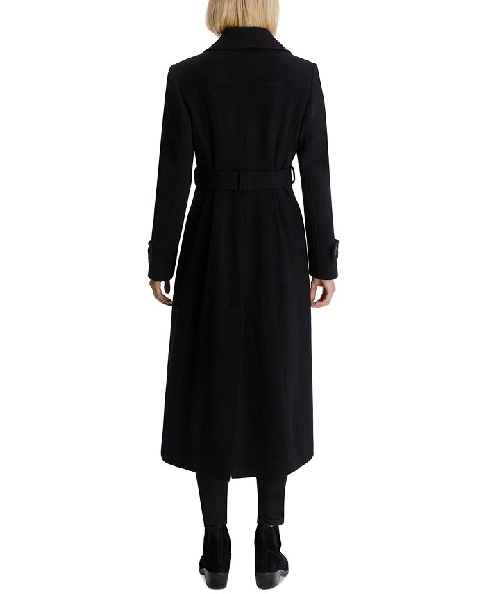 Anne Klein Petite Single Breasted Belted Wrap Maxi Coat Created For Macy S Reviews Coats Petites Macy S