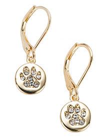 Pet Friends Jewelry Pave Paw Drop Earring