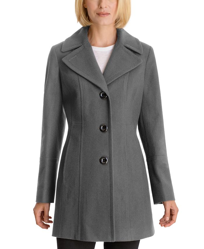 Anne Klein - Single-Breasted Peacoat