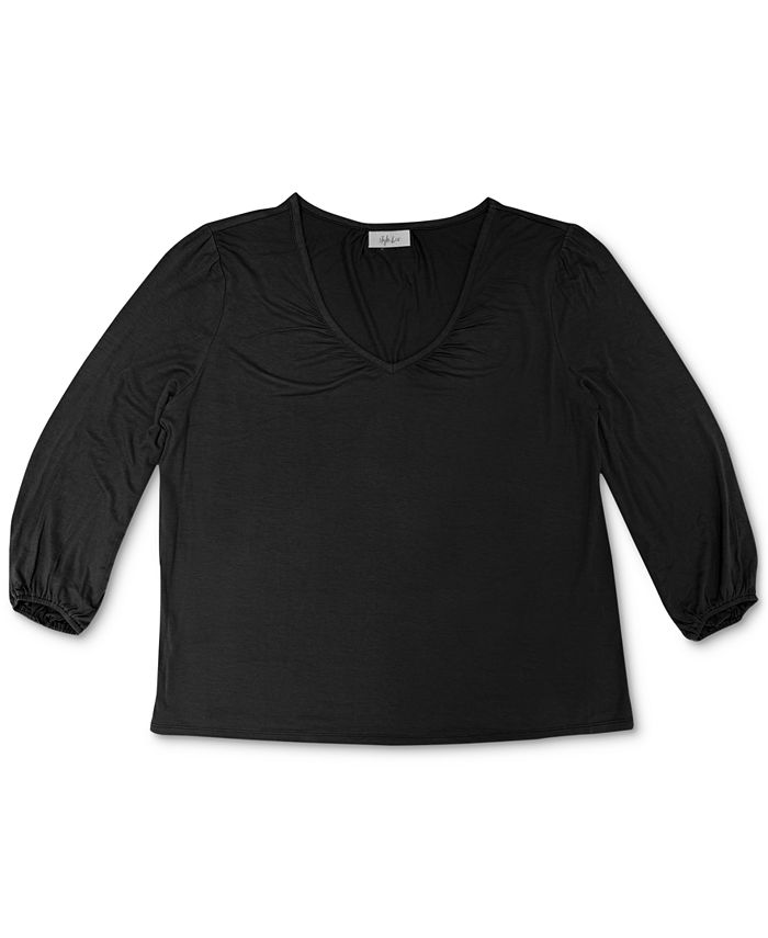 Style & Co - Plus Size V-Neck Top