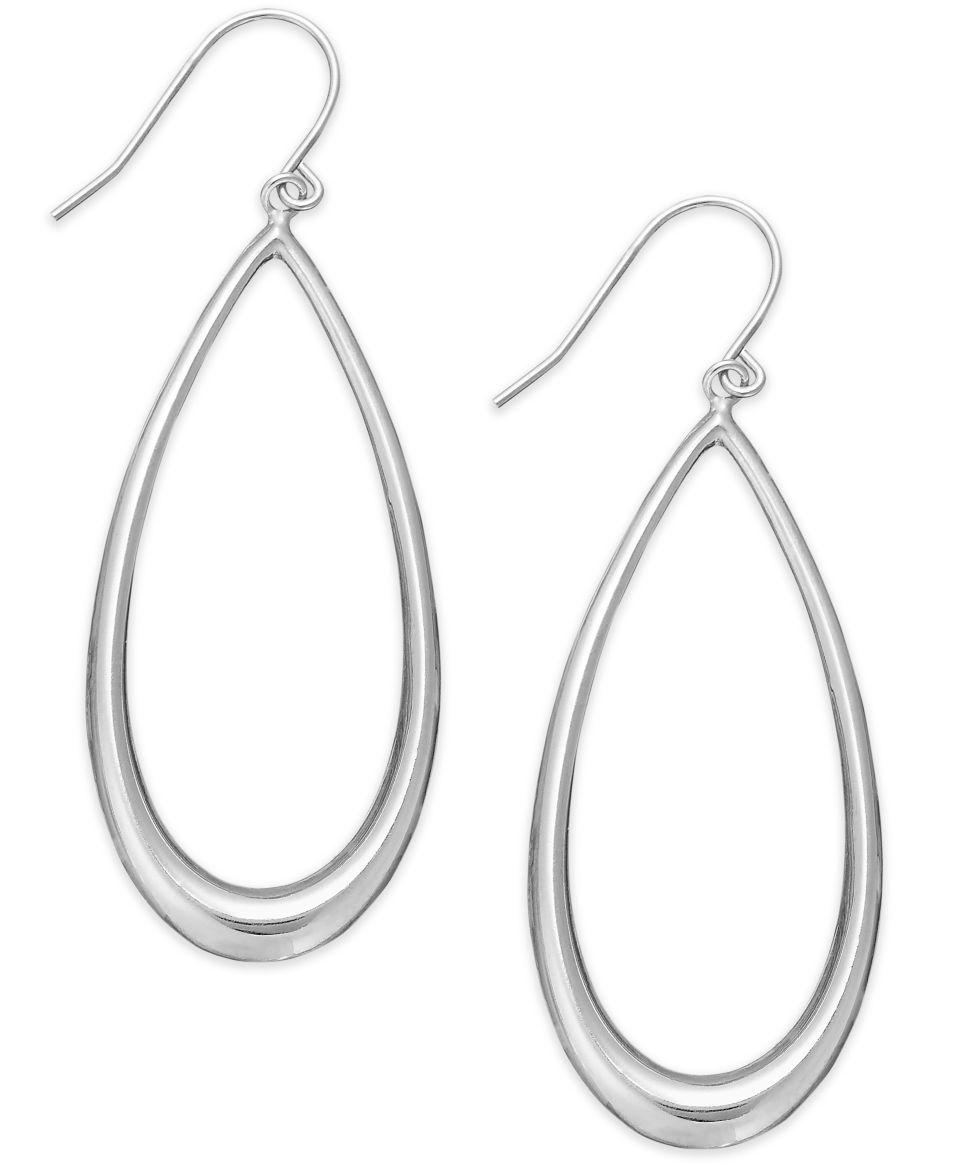 Giani Bernini 24k Gold over Sterling Silver Earrings, Large Open Teardrop Earrings   Earrings   Jewelry & Watches