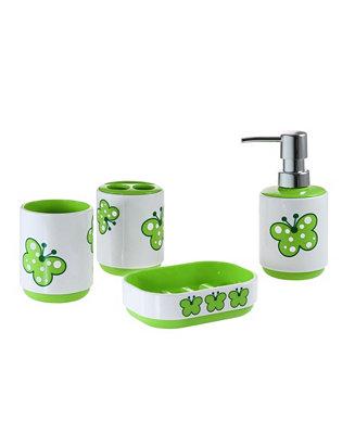Immanuel Kid S Butterfly 4 Piece Bathroom Accessory Set Reviews Bathroom Accessories Bed Bath Macy S