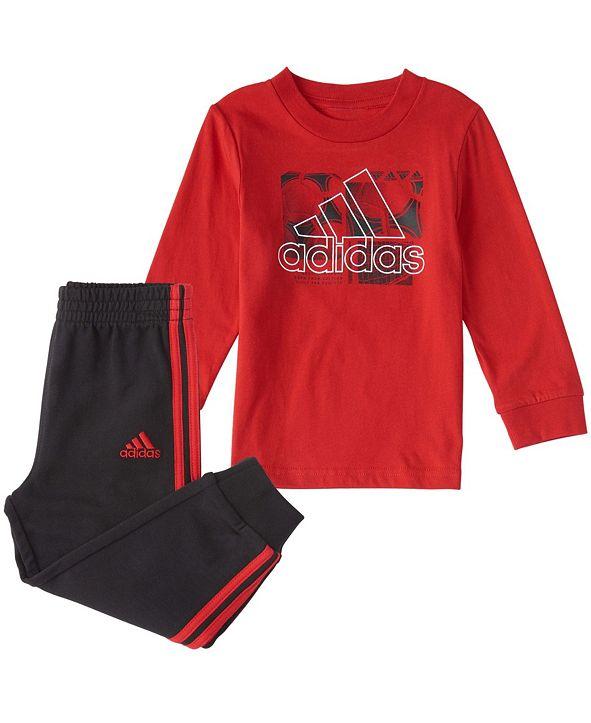 adidas Baby Boys Long Sleeve Playtime Top & Jogger Set