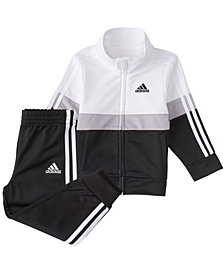 Adidas Baby Boys Zip Front Colorblock Varsity Track Jacket & Jogger Set