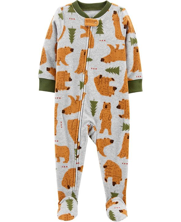 Carter's Baby Boy  1-Piece Bear Fleece Footie PJs