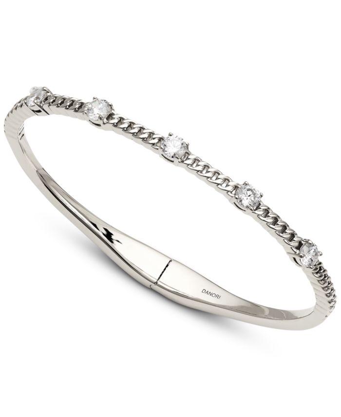 Eliot Danori Cubic Zirconia & Chain Bangle Bracelet, Created for Macy's & Reviews - Bracelets - Jewelry & Watches - Macy's