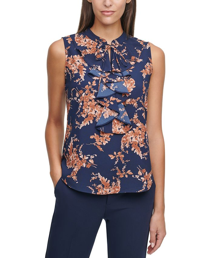 Tommy Hilfiger - Floral-Print Ruffled Top