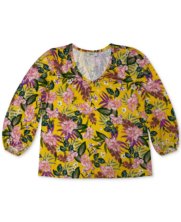 Style & Co - Plus Size Floral-Print Top