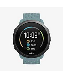 Suunto 3 Men's Moss Gray Silicon Strap Compact Sports Watch, 43mm