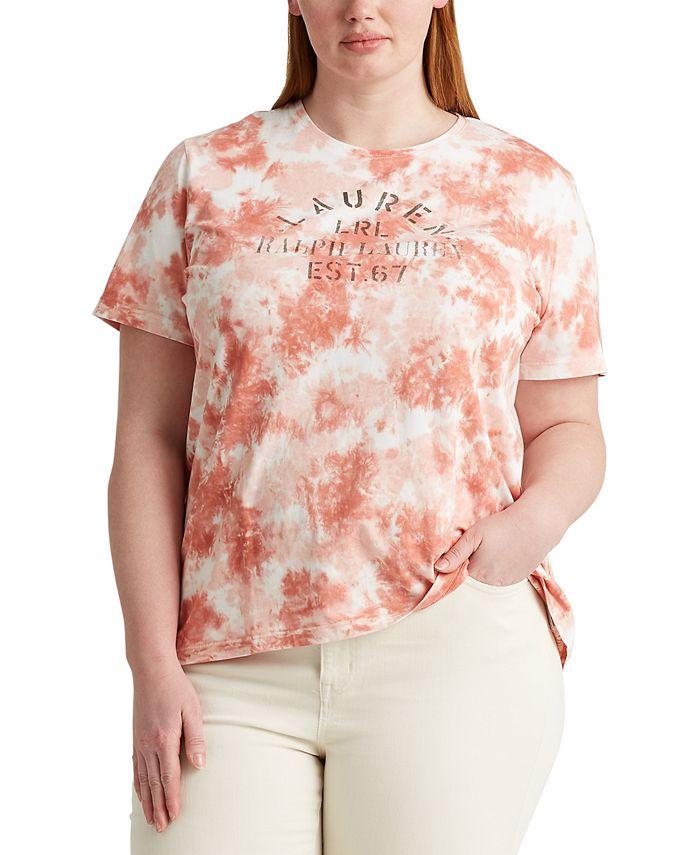 Lauren Ralph Lauren - Plus Size Tie-Dye Short Sleeve Top