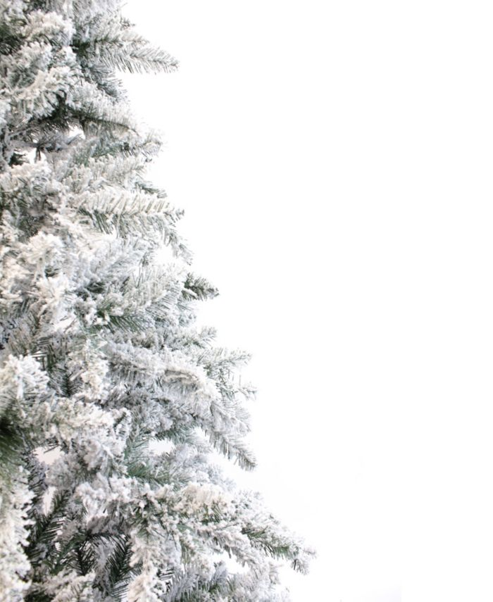 Perfect Holiday 7.5' Alpine Spruce Snow Flocked Christmas Tree & Reviews - Holiday Shop - Home - Macy's