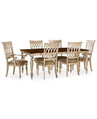 Dovewood Dining Room Furniture 7 Piece Set Table 4 Side Chairs And 2 Arm C
