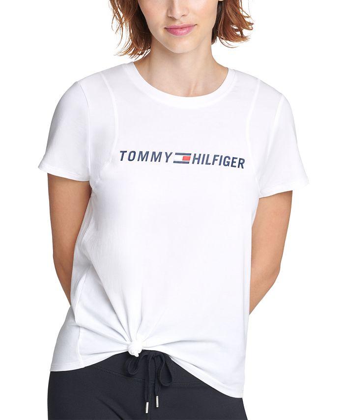 Tommy Hilfiger - Side-Knot Logo Print T-Shirt