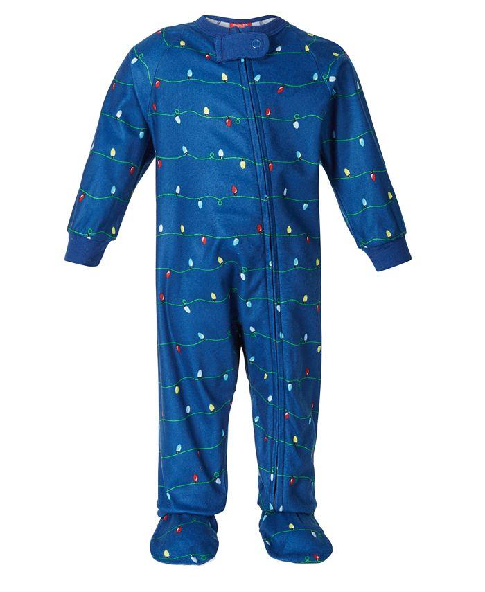 Family Pajamas - Baby Holiday Lights Footed 1-Pc. Pajama