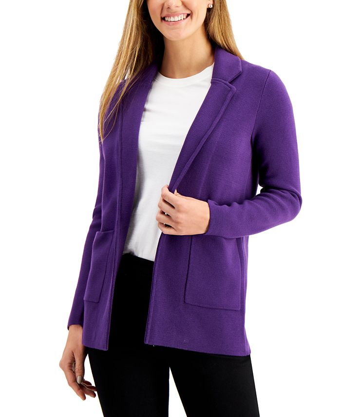Charter Club - Open-Front Blazer, Created for Macy's