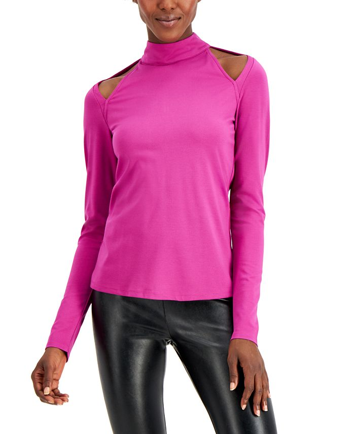 INC International Concepts - Cutout Mock-Neck Top