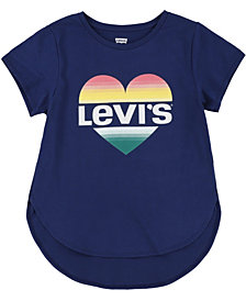 Levi's Toddler Girls Heart Logo High-Low T-Shirt