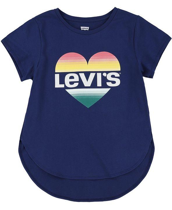 Levi's Toddler Girls Heart Logo High-Low T-Shirt