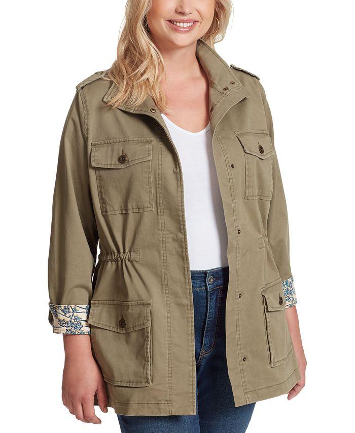 Jessica Simpson - Trendy Plus Size Utility Jacket