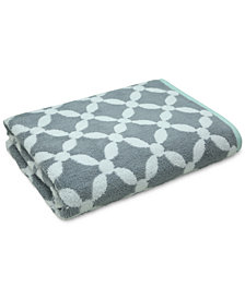 "Martha Stewart Collection Dot Lattice 30"" x 54"" Bath Towel, Created for Macy's"