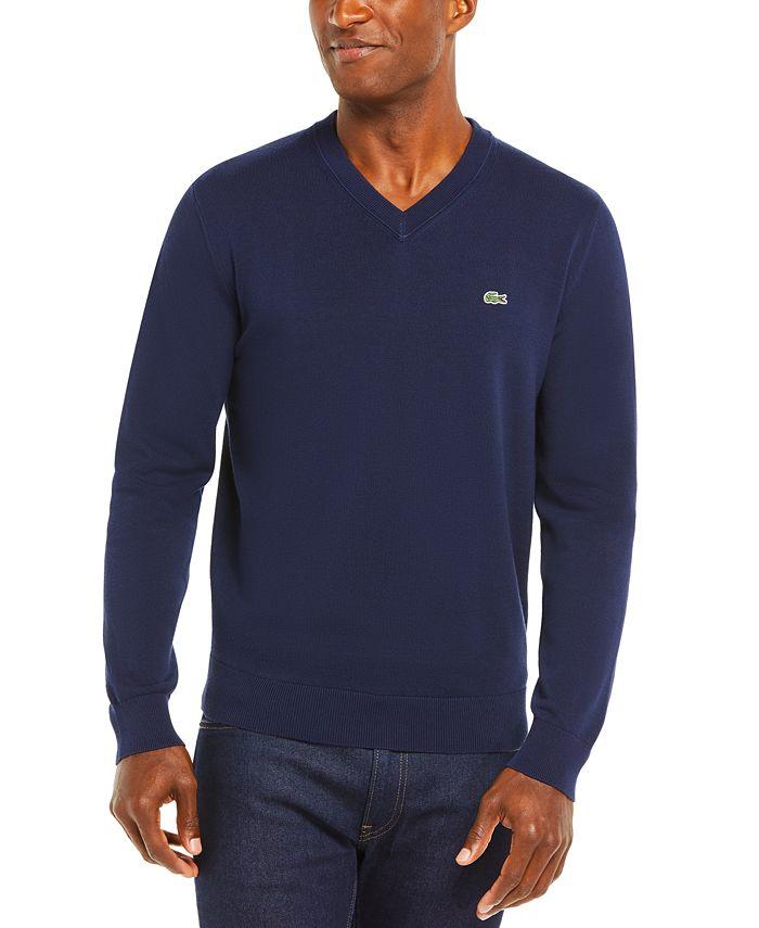 Lacoste - Men's V-Neck Cotton Sweater