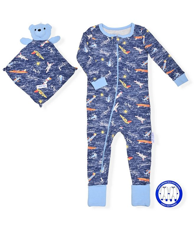 Max & Olivia Baby Boys Onesie with Blankie Baby