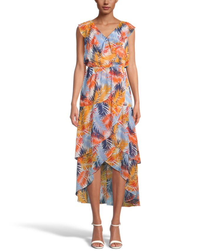 INC International Concepts INC Printed Tiered Midi Dress, Created for Macy's & Reviews - Dresses - Women - Macy's