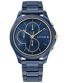 Tommy Hilfiger Women's Blue Ceramic Bracelet Watch 38mm