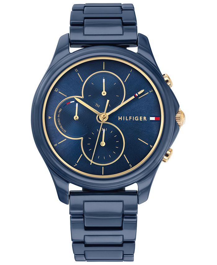Tommy Hilfiger - Women's Blue Ceramic Bracelet Watch 38mm