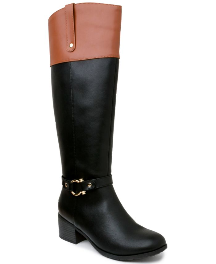 Karen Scott Vickyy Riding Boots, Created for Macy's & Reviews - Boots - Shoes - Macy's
