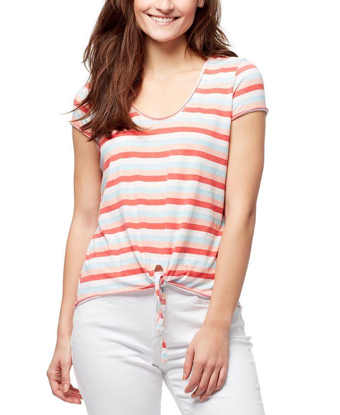 WILLIAM RAST - Astrid Striped Tie-Front T-Shirt