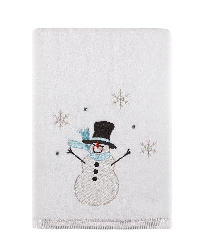 "Martha Stewart Collection Silver Snowman 27"" x 50"" Bath Towel, Created for Macy's"