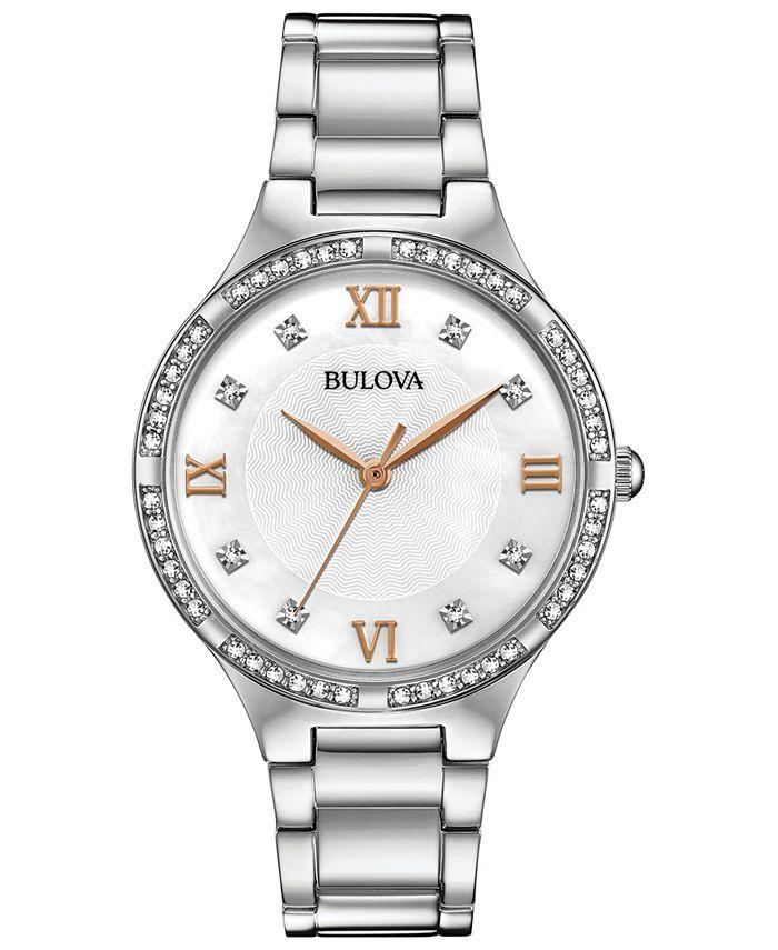 Bulova - Women's Stainless Steel Bracelet Watch 34mm