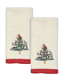 Spode Christmas Trees Fingertip Towels, 2 Piece