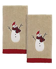 Avanti Snowman Gathering Fingertip Towels, 2 Piece