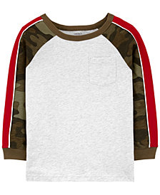 Carter's Big Boy Raglan-Sleeve Jersey Tee